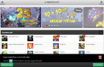 Casinofloor skjermbilde