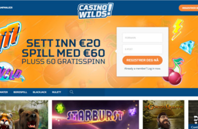 Casino Wilds skjermbilde