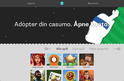Casumo Casino skjermbilde