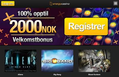Energy Casino skjermbilde