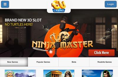 EU Casino skjermbilde