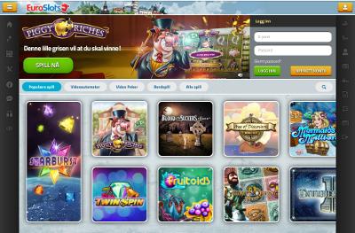 EuroSlots Casino skjermbilde