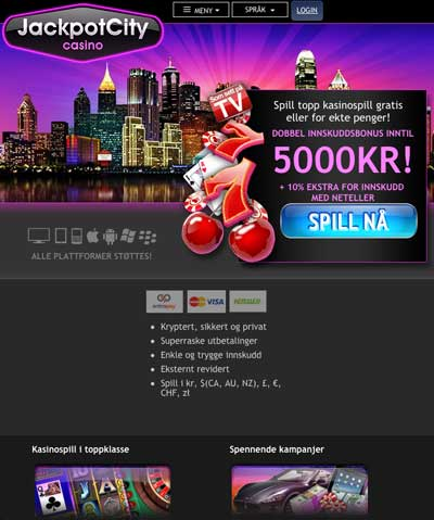 Jackpot City Casino skjermbilde