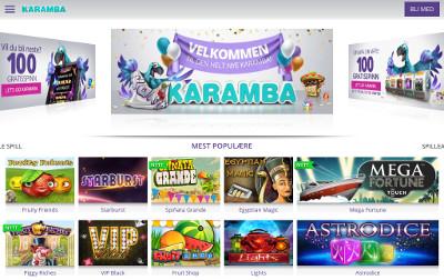 Karamba Casino skjermbilde