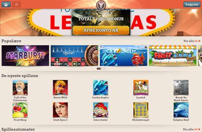 Leo Vegas Casino skjermbilde