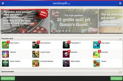 Norskespill Casino skjermbilde