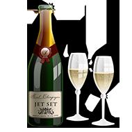 Det er lov å feire med champagne og frispinn